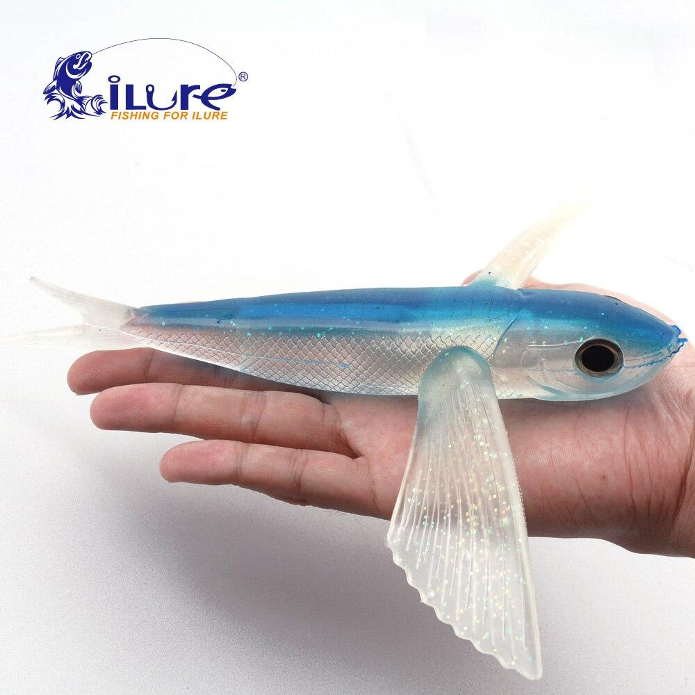 Agua de mar Señuelo de la Pesca de peces voladores 220mm 124g Cebo Suave del Señ