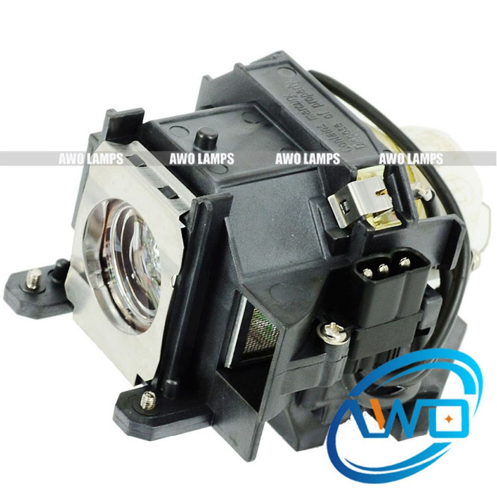 AWO V13H010L40 Replacement Lamp with Housing for EPSON PowerLite 1815p/1810p/1825/EB-1825/1810/EMP-1810/1815/1825 ELPLP40 Lamp