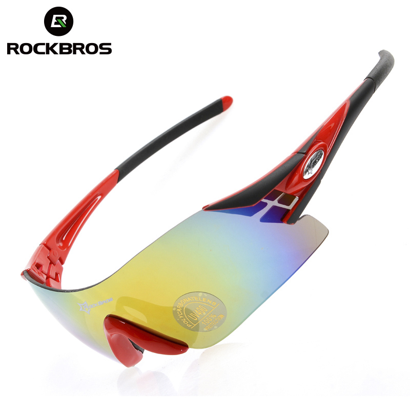 ROCKBROS Outdoor Sports Bicycle Glasses Bike Sunglasses TR90 Goggles Eyewear With Polarized Colorful Night vision Lenses