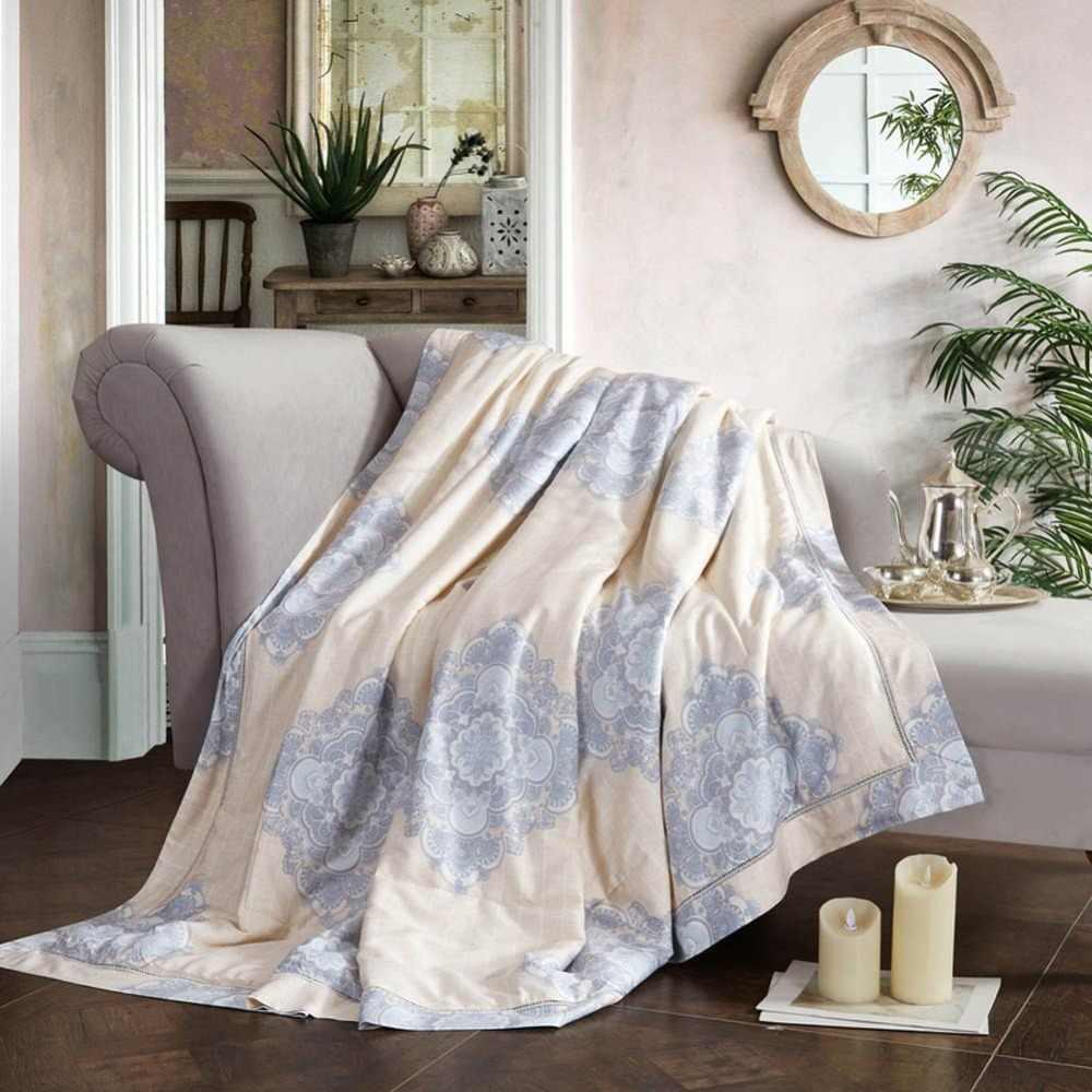 2019 Mandala Bohemian Beige Quilting Quilt Soft Stitching Modal Artificial Silk Polyester Filler Queen King Summer Comforter