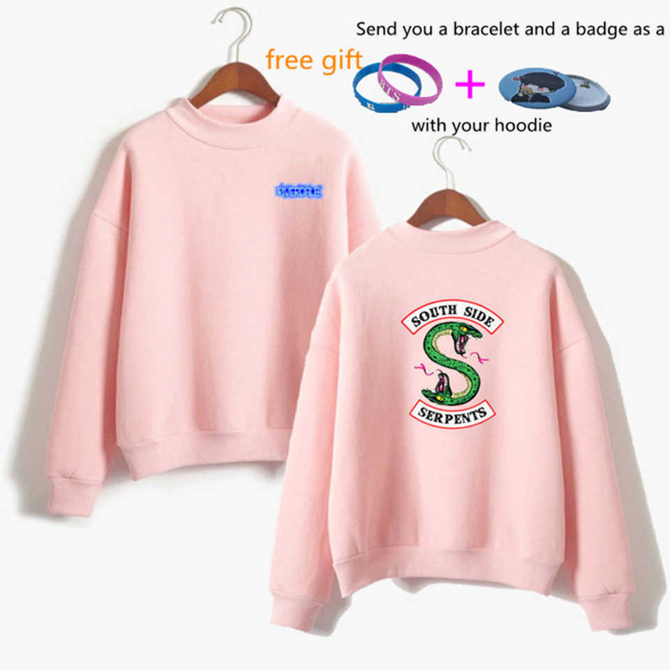 2019 K-pop Riverdale Sweatshirts Hoodies Women Fashion Hooded Long Sleeve Sweatshirt Casual Clothing south side serpents Hoodies