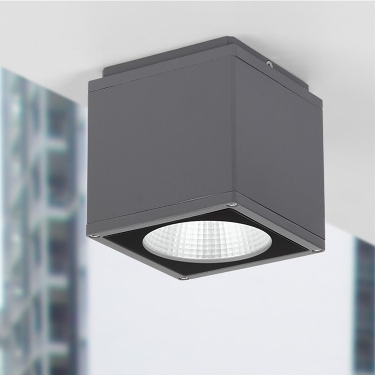 Us 54 72 28 Off Outdoor Led Ceiling Light Surface Mounted Lighting Square For Bathroom Balcony Stair Way Grey Ing Warm White In