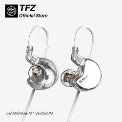 TFZ/N ° 3 Unità di Terza Generazione In-Ear Cuffie, Dinamico Driver di 0.78 millimetri 2pin Iem Trasparente HiFi cuffia Staccabile