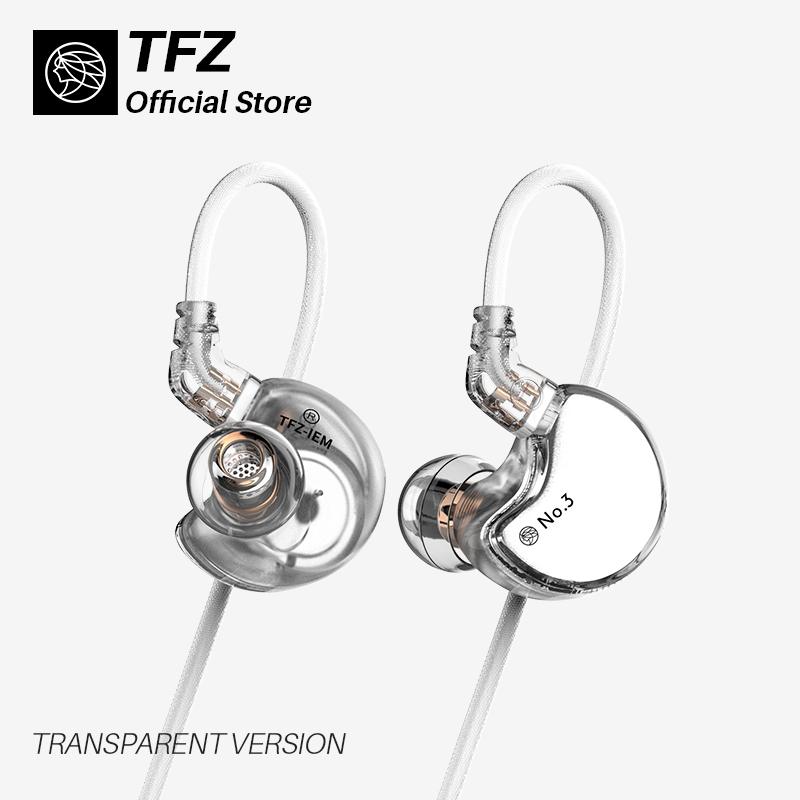 TFZ/No.3 Third Generation Unit In-Ear Headphones, Dynamic Driver 0.78 Mm 2pin IEMs Transparent HiFi Detachable Headphone