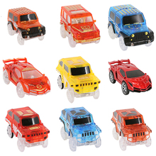 10pcs/lot Spare Parts for Magic Racing Tracks That Bend,Flex ,Glow in the dark,Color Random, Puzzle Educational Toys