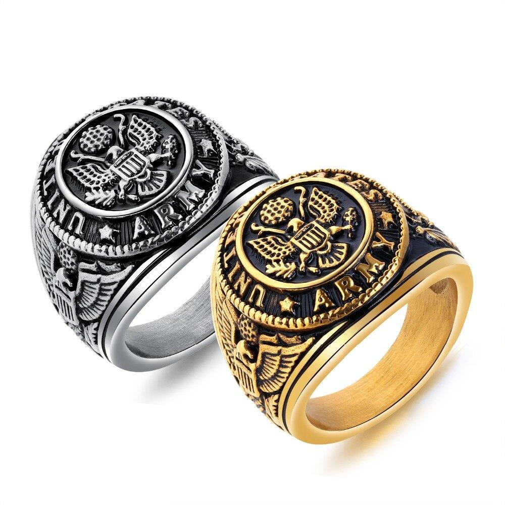 Honig 2018 Neue Mode Big Bord Eag Muster Ring Vintage Männer Edelstahl Ring Gesicht Breite 23mm Männer Schmuck Geschenk Keine. Qljz037