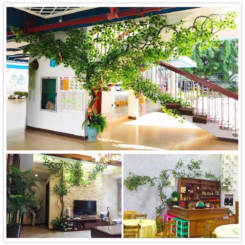 Ensemble de plantes artificielles décoration de mariage aménagement paysager vigne sèche faux arbres canne verte décoration d'intérieur plante verte - 5