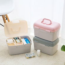 Liyimeng Medicine Storage Box Double Large Cabinet Portable Home Organizer Sundries Office