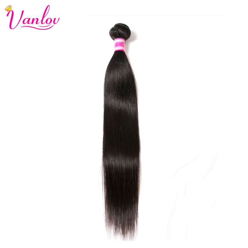 Hair Brazilian Straight Human Hair Extensions #1 Jet Black #1B Natural Colour