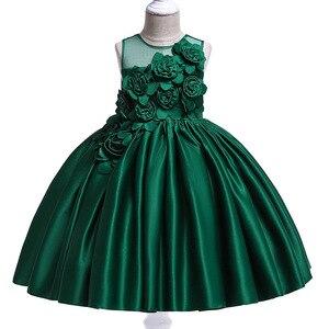 Image 2 - Vestidos de fiesta de princesa para niñas, pétalos de rosa, ropa de cumpleaños para niños y niñas, ropa para niños, disfraz de bebé L5068