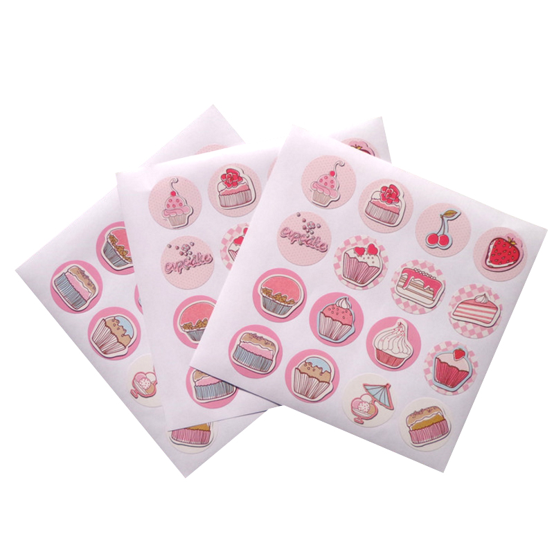 160pcs/lot Cute Cup Cake DIY Multifunction Adhesive Christmas Sealing Sticker Packaging Sealing Label Sticker Gift Stickers