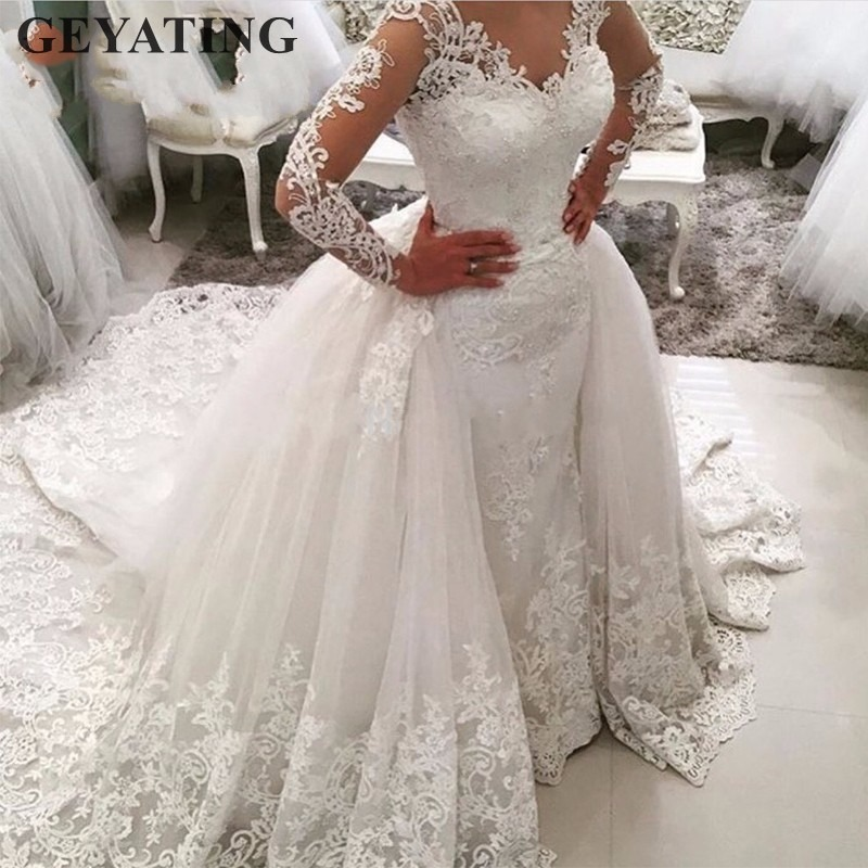 777a5c2af1 Hot Sale] Backlake Gorgeous ivory bridal gown 3D flowers beading ...