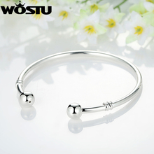 Hot Sale Silver European Charm Bead Bangle & Bracelet Fashion Jewelry For Women Men  XCH3040