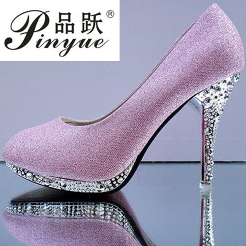 2018 Womens Wedding Shoes Woman Bridal Evening Party Red High Heels Shoes Sexy Women Pumps Glitter White Bridal Shoes Tacones