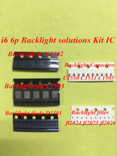 10pcs for iPhone 6 6plus Backlight IC chip U1502 coil L1503 diode D1501 Capacitor C1530 C1531 C1505 filter FL2024 25 26