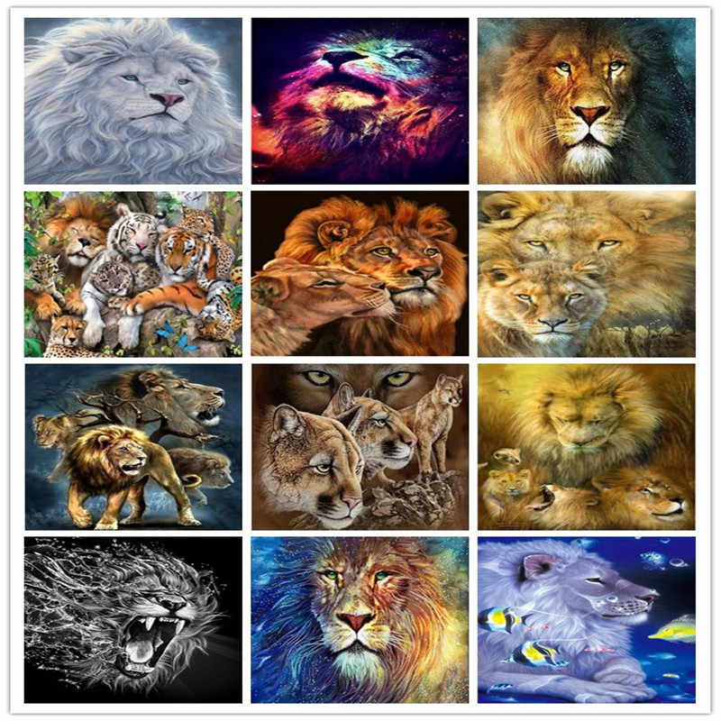Taladro Completo Hágalo usted mismo 5D Diamante Pintura Paisaje Animal Kits De Punto De Cruz Bordado