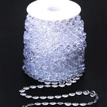 10 мм Кристалл акриловые бусины цепи, 10 ярдов/партия, свадебные украшения из бисера линии, свадебные dec string стразы отделка диск блюдце рулетка