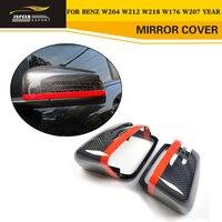 Замена укладки углеродного волокна Гонки зеркало Чехлы для Benz W204 W212 W218 W176 W207 год увидеть детали