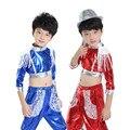 Criança Traje de Dança Moderna Top + calças Traje de Dança Jazz para Crianças Lantejoulas Hip Hop Trajes De Competição de Dança Menina Dança vestir 89