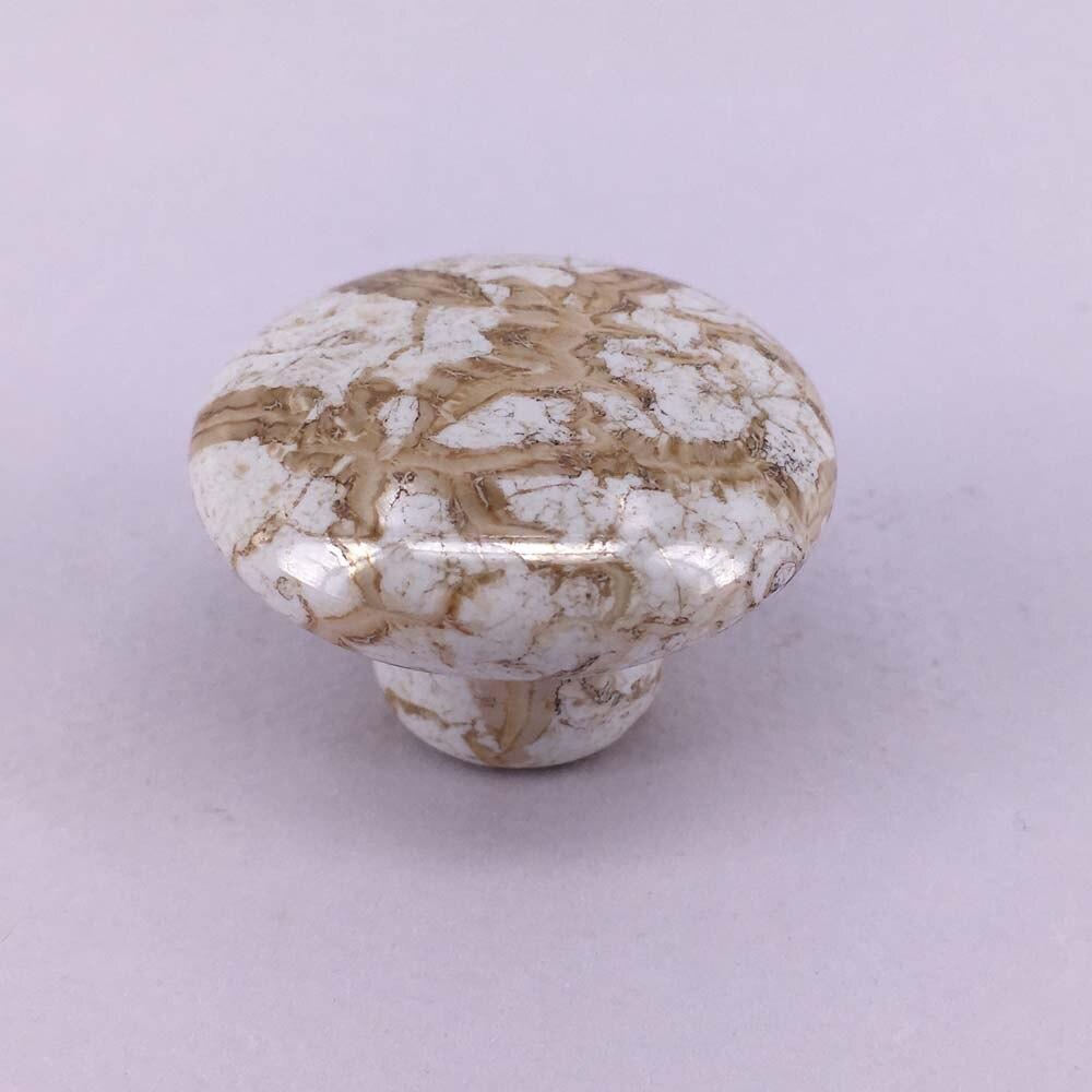 Marble Ceramic Cabinet Door Handle Porcelain Drawer Pulls Cupboard Closet Dresser Knobs Pulls for Kitchen Bedroom Furniture