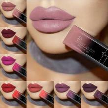 Matowa szminka w płynie wodoodporny, długi trwały błyszczyk do ust odcień seksowny czerwony, cielisty fioletowy metaliczny pomadki makijaż kosmetyki