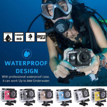 Sports Camera 2 Inch Mini Waterproof Sports Recorder Car Dv Camera Camcorder 1080P Full HD 120D Underwater  Mi Action Camera ccdcam 1080p 10m underwater camera poe power white light underwater camera