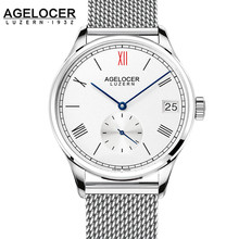 2017 AGELOCER famous brand hot male watches luxury mens automatic watch stainless steel bracelets rose gold unique design gift