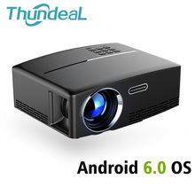 ThundeaL Send from Brazil GP80UP Android 6.0 Mini Projector GP80 UP LED LCD HD Projector 1080P VGA HDMI Bluetooth WIFI 3D Beamer