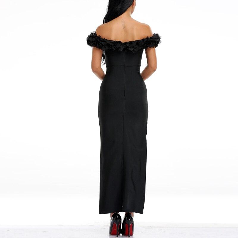 Nouvelle Causual Indressme longueur Gratuite Manches Mode 2019 De L'épaule Robe Solide Lacée Sans Black Livraison Cheville rqaanwtvWX