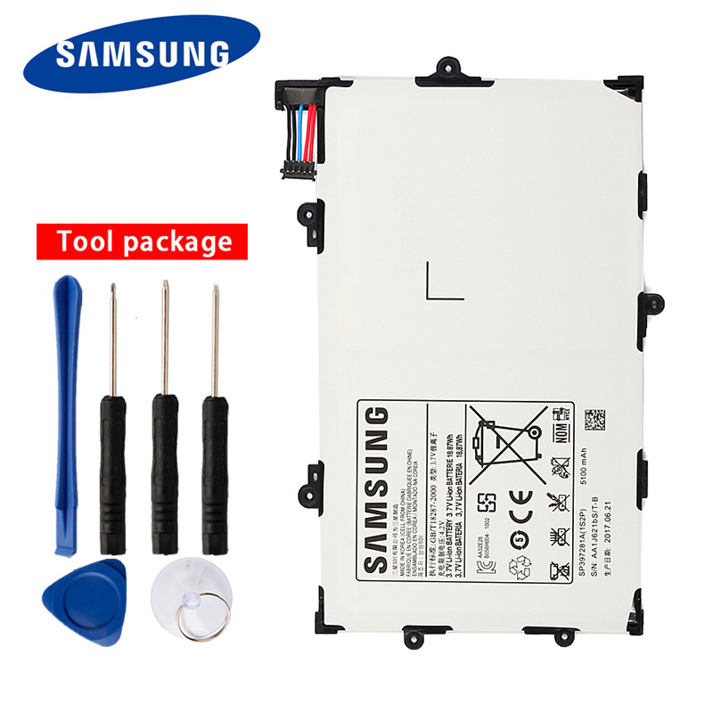 Original Samsung High Quality SP397281A Tablet Battery For Samsung GALAXY Tab 7.7 P6800 P6810 i815 <font><b>5100mAh</b></font> image