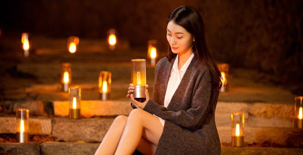 Original xiaomi mi jia Yeelight Candela Led de noche, la luz de la vela del humor inteligente, para la aplicación de xiaomi mi home - 6