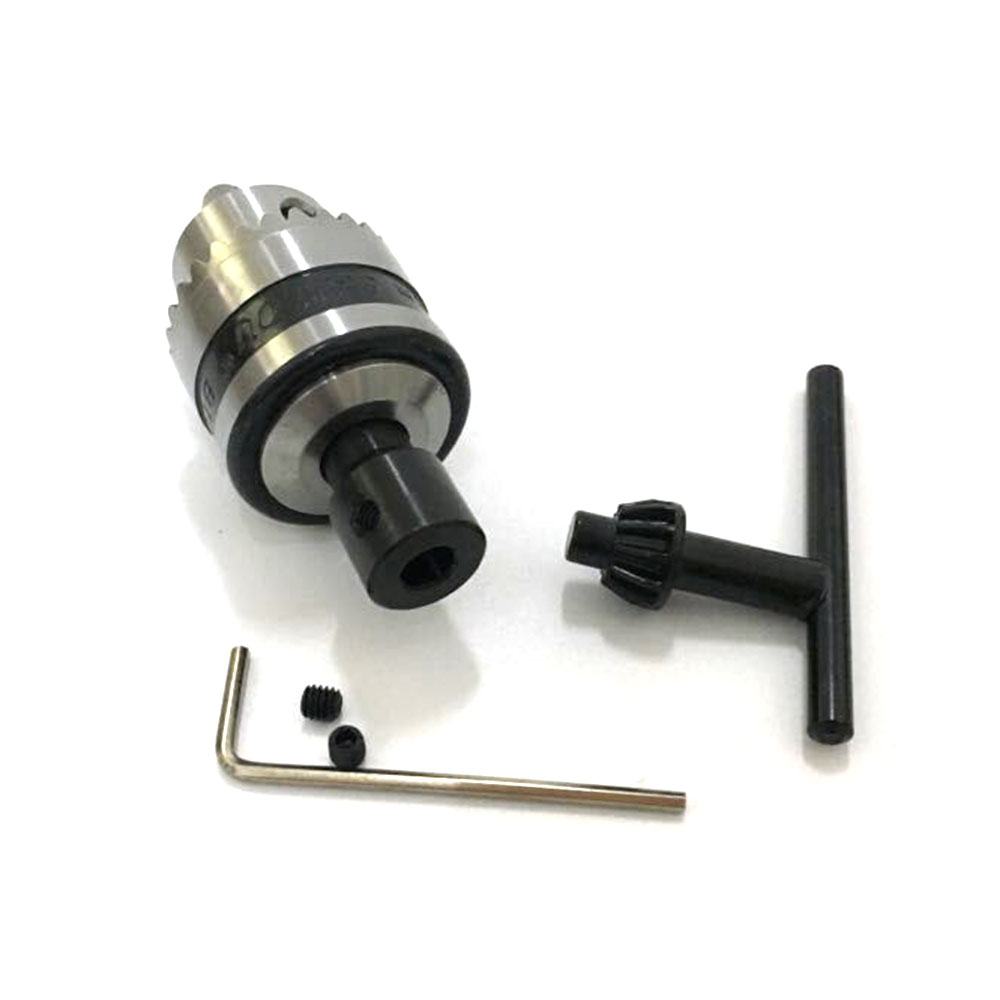 Electric Motor Drill Chuck Cap 0.6-6mm Mount B10 Taper With 6mm Steel Connector Rod Motor Shaft Power Tools