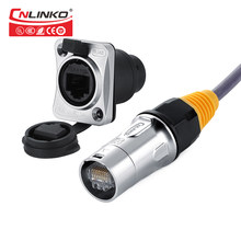 Linko Hot Sale Multi Type 8Pin Electrical Data Cable Plug Panel Mount Socket Cat5e RJ45 Waterproof Connector 8p8c Ethernet