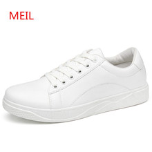 Casual Leather Shoes Men 2018 Sneakers Brand Mans Breathable For fashion Student