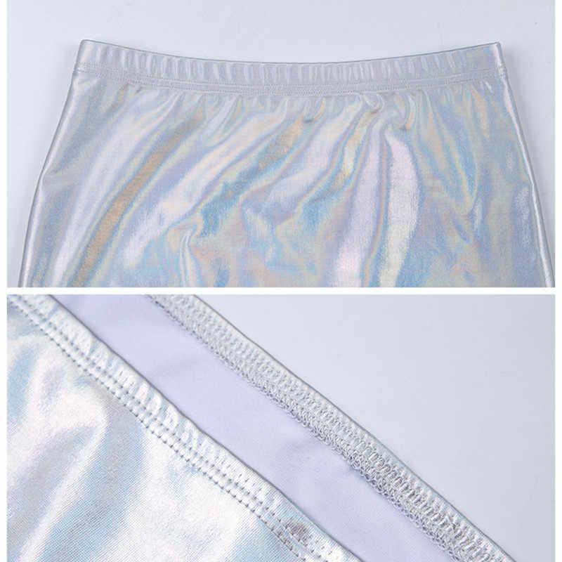 Anjamanor Lấp Lánh Toàn Phương Gợi Cảm Hai Bộ Mùa Hè 2019 Người Phụ Nữ Câu Lạc Bộ Trang Phục Áo Crop Top Và Chân Váy Ôm Body Đầm Ngắn D71-I02