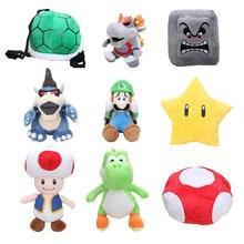 Super Mario 18-40cm Super Mario Star Bowser Luigi Mushroom Toad Stuffed plush cushion toy Mario soft plush dolls retail