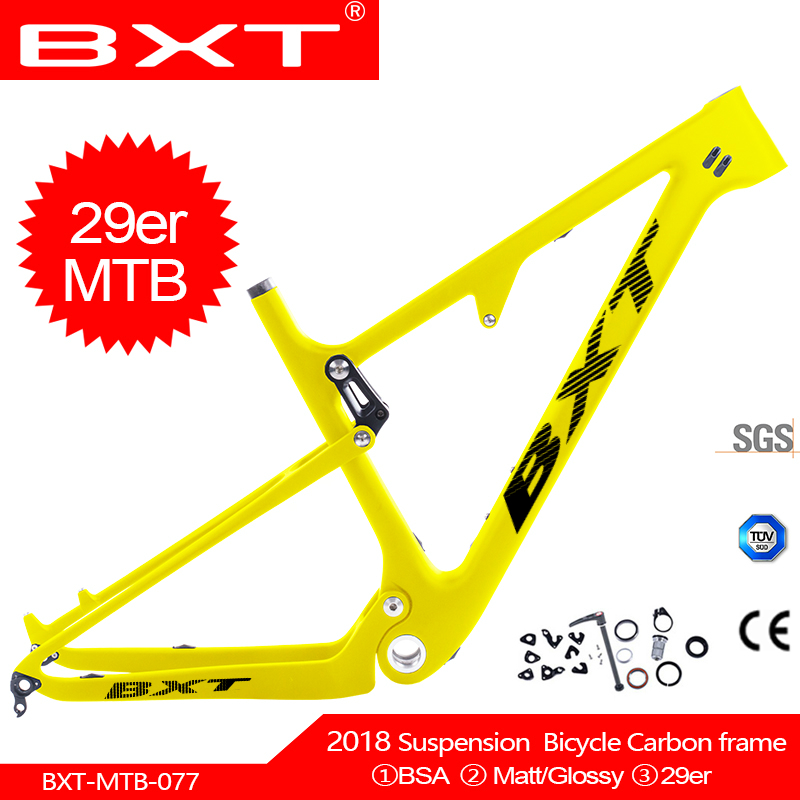 Cheap China Suspension Frames 148*12mm Boost Carbon Suspension Mountian Bike Frame 29er Carbon Mtb Bicycle Frame Disc 160mm