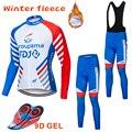 Ropa de Ciclismo térmica de invierno para hombre 2018 nueva camiseta de Ciclismo de manga larga FDJ Conjunto de camiseta de Ciclismo Ropa de Ciclismo MTB