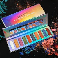 DE LANCI Duo Chrome Eyeshadow Palette 5 Matte 3 Bright Shimmer 2 Chrome Eyeshadow Highly Pigmented