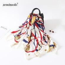 100% Twill Silk Scarf Women Luxury Brand Square Scarves Wraps 130*130cm Female Neckerchief Large Bandana Shawl Foulard