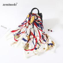 100% Twill Silk Scarf Women Luxury Brand Square Scarves