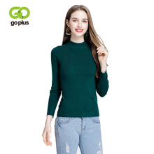 GOPLUS 2019 Fashion Winter Solid Turtleneck Knitted Sweater Women Long Sleeve Basic Elasticity Pullover Lady Slim Female