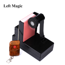 лучшая цена Remote Control Card Fountain Magic Tricks Spray Card Device Magic Props Stage Accessories Ountain Magic Metalism Gimmick G8097