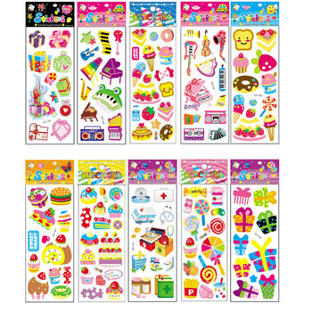 10Pcs Different Cartoon Sticker Toys for Children Gift Kindergarten Sticker Candy Music Decoration on Phone Book No-repeat [category]