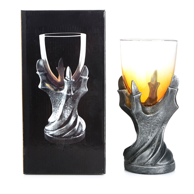Halloween. Gothic Cocktail Glass, Whiskey. Dragon Claw.