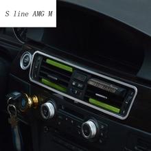 Для bmw e90 салона Кондиционер Выход декоративная рамка Крышка Стикеры отделкой стайлинга автомобилей 2005-2012 авто аксессуары