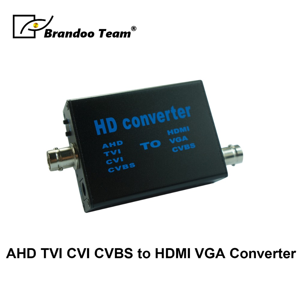 AHD Camera Signal To HDMI/VGA/CVBS Converter Support HDMI 1080P 720P Output HD Video Converter Black