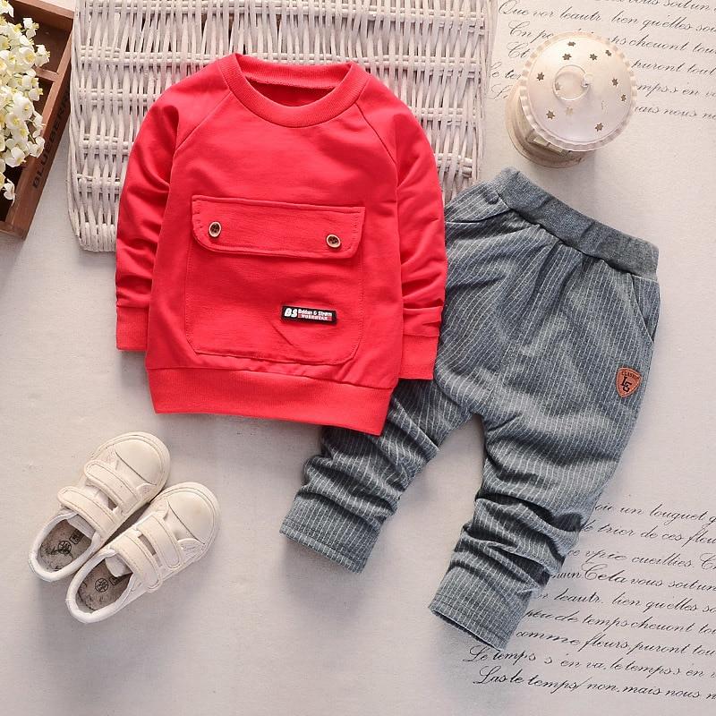 Children Boys Girls Cotton Clothing Sets Fashion Baby Gentleman Jacket Pants 2Pcs/Sets Spring Autumn Formal Toddler Tracksuits