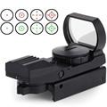 11mm/20mm rail optics riflescope caça airsoft holográfica red dot sight reflex scope 4 reticle tactical gun acessórios