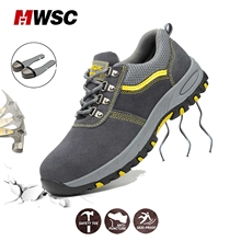 Man Safety Shoes Steel Cap Toe Work Boots Work Safety Shoes Male Safety Ankle Boots Workshop Security Shoes for Man Boots